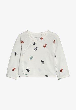 OVERLAP KRIMPTON - Long sleeved top - whisper white