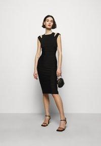Hervé Léger - CRISS CROSS BACK DRESS - Pouzdrové šaty - black - 1