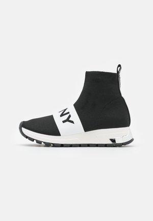 MACE LOGO BAND  - High-top trainers - black/white