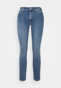 7 for all mankind - CROP - Jeans Skinny Fit - mid blue - 4