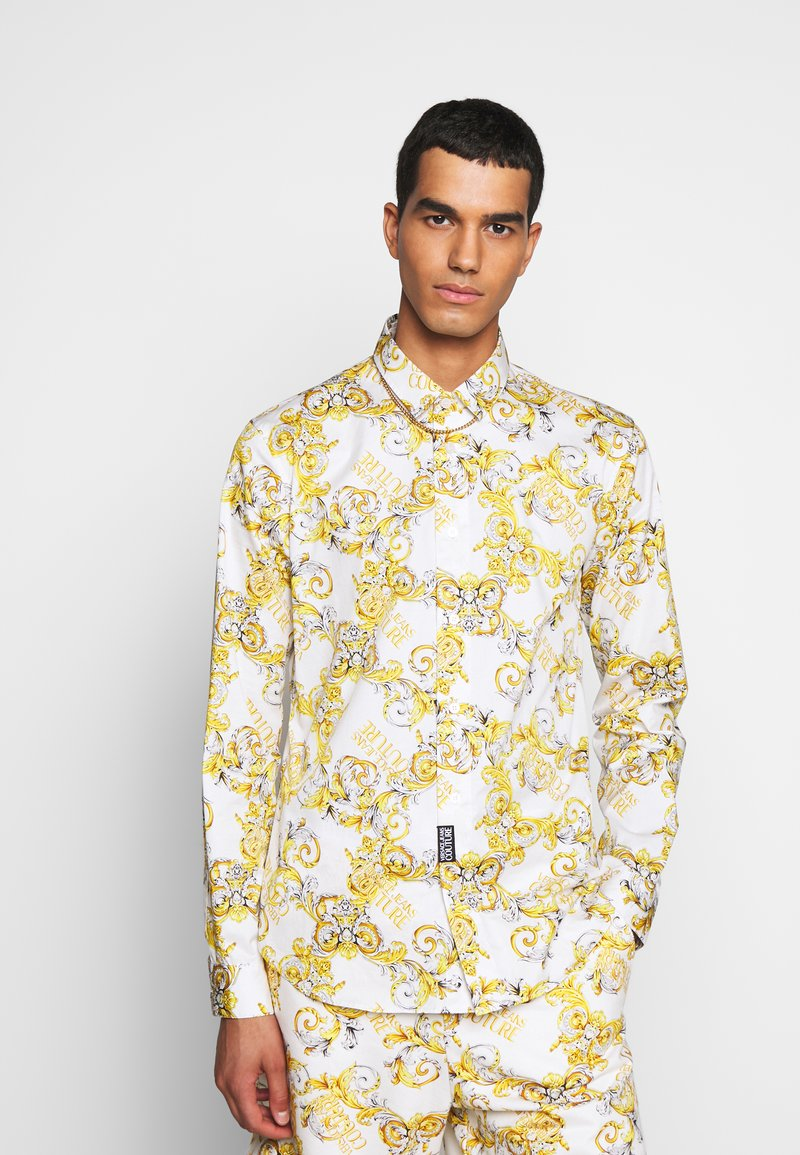 Versace Jeans Couture - PRINT LOGO NEW - Košile - bianco ottico