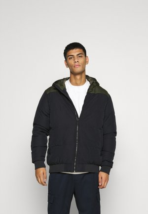 ONSBOSTON QUILTED BLOCK HOOD - Vinterjakke - dark navy