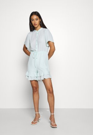 FRILL DETAIL PLAYSUIT - Mono - blue
