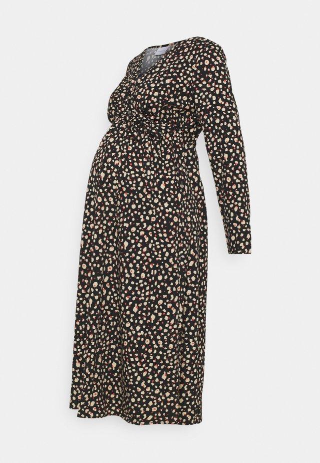MLDAY WOVEN MIDI DRESS - Robe en jersey - black/small print