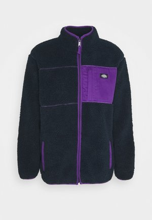 CHUTE - Fleecejacka - dark navy/lilac
