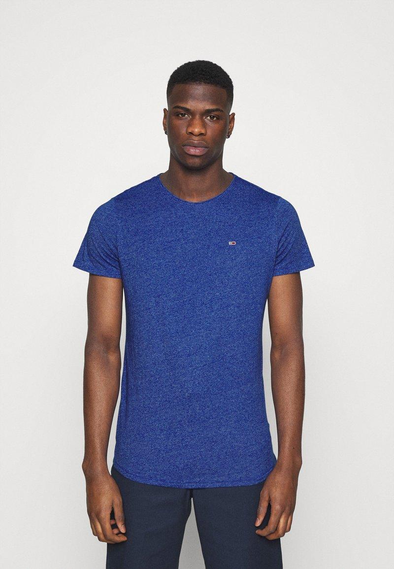 Tommy Jeans - SLIM JASPE C NECK - Jednoduché triko - blue