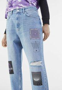 Bershka - Jeans Tapered Fit - blue denim - 3