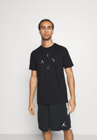 Jordan - AIR CREW - Print T-shirt - black/white/smoke grey - 0