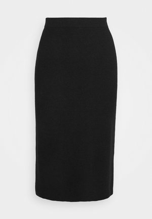 SKIRT MILANO MIDI - Pencil skirt - black melange