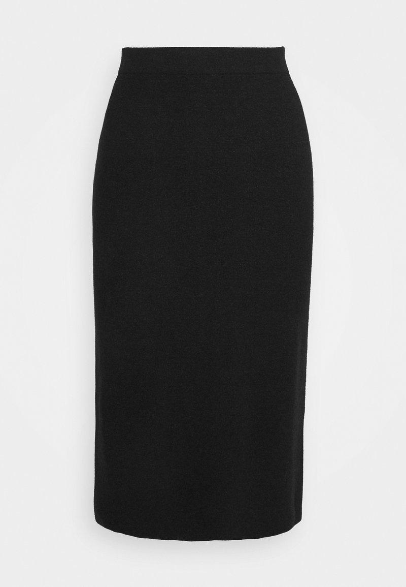 TOM TAILOR - SKIRT MILANO MIDI - Pencil skirt - black melange