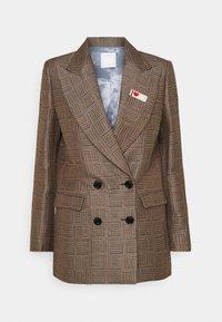 sandro - Short coat - marron/noir - 4
