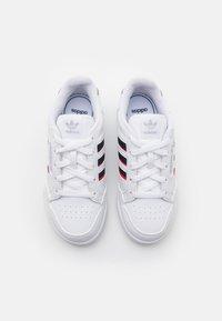 adidas Originals - CONTINENTAL 80 STRIPES UNISEX - Trainers - footwear white/collegiate navy/vivid red - 3