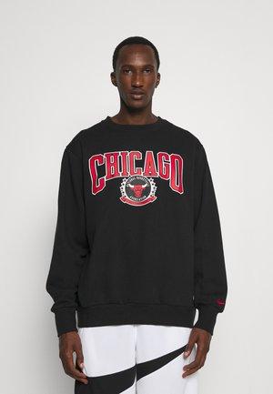 NBA CHICAGO BULLS CREWNECK - Klubové oblečení - black/white/university red
