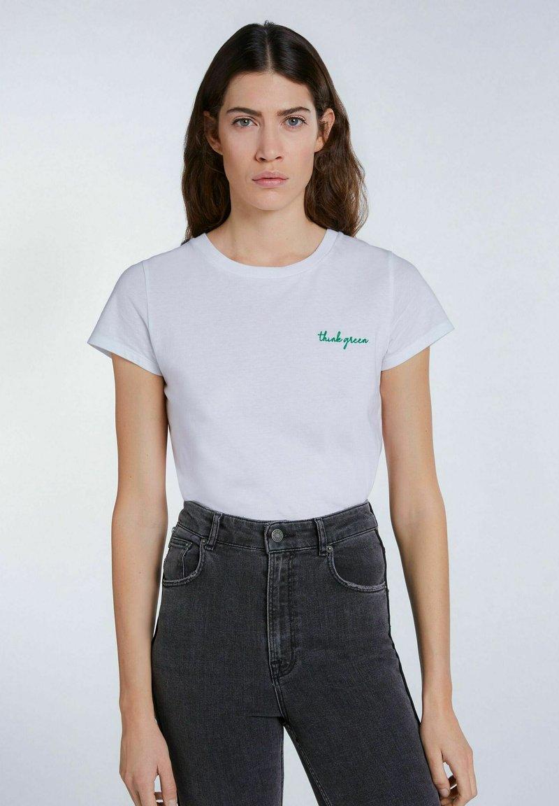 SET - Print T-shirt - bright white