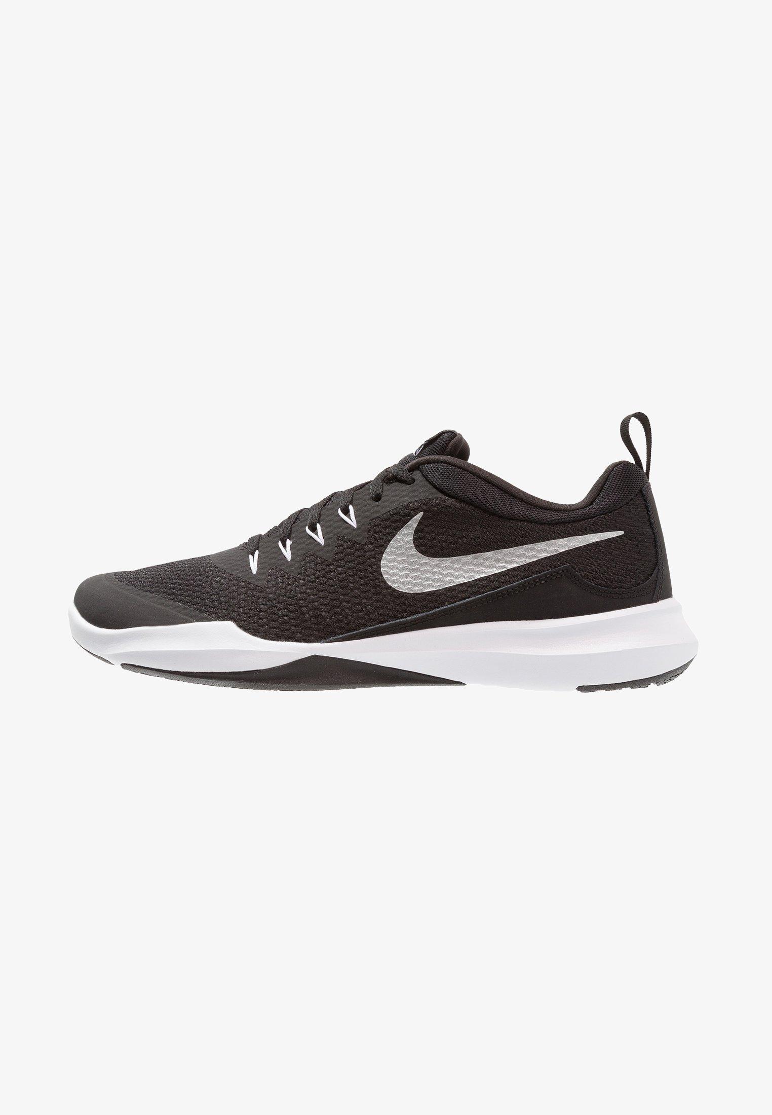 Radioactivo Alentar alegría  Nike Performance LEGEND TRAINER - Sports shoes - black/metallic  silver/white/black - Zalando.co.uk