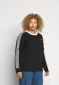adidas Originals - Long sleeved top - black/white - 0