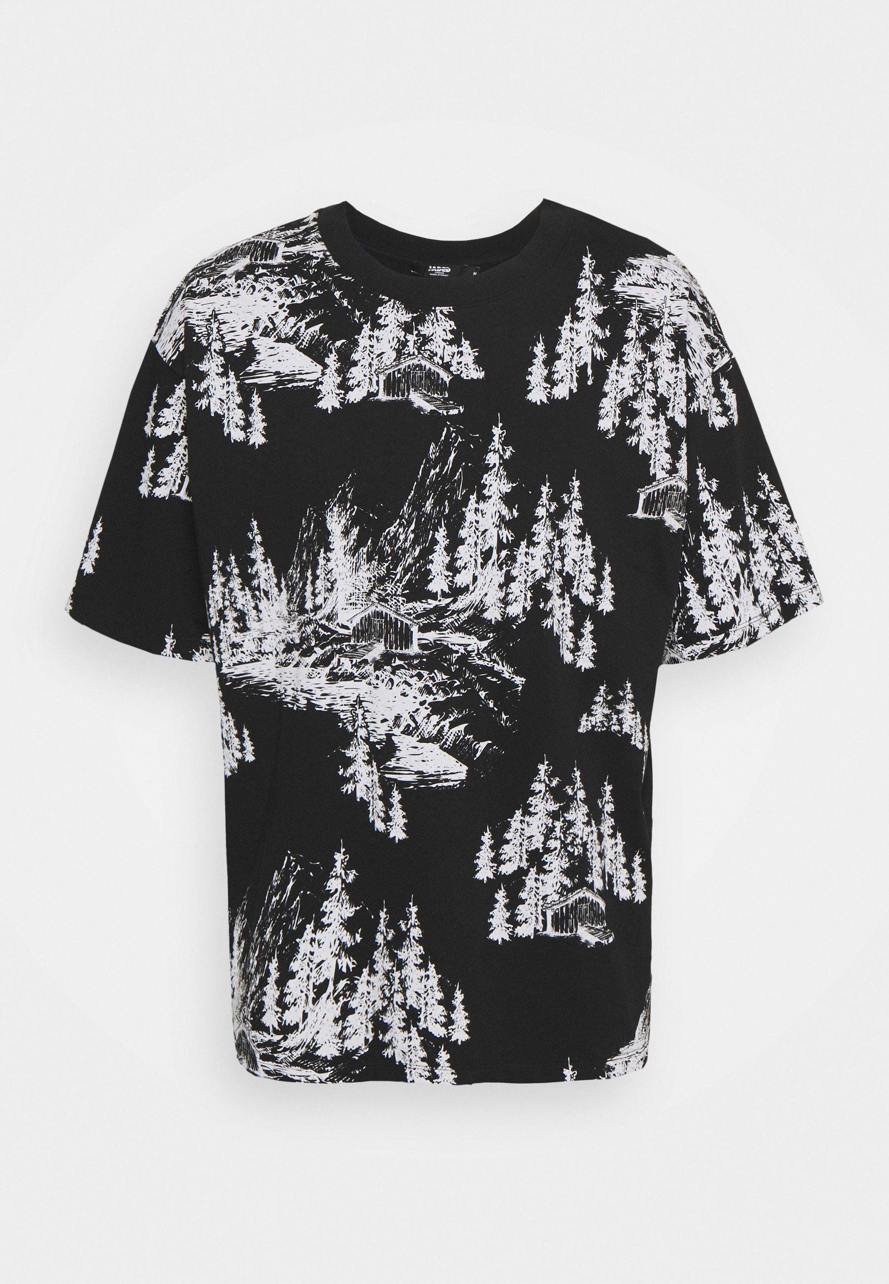 Men HAND DRAWN WOODLAND SCENE - Print T-shirt