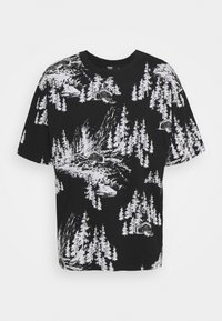 Jaded London - HAND DRAWN WOODLAND SCENE - Print T-shirt - black/white - 3
