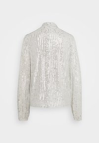 Nly by Nelly - HIGH NECK SEQUIN BLOUSE - Topper langermet - grey - 7
