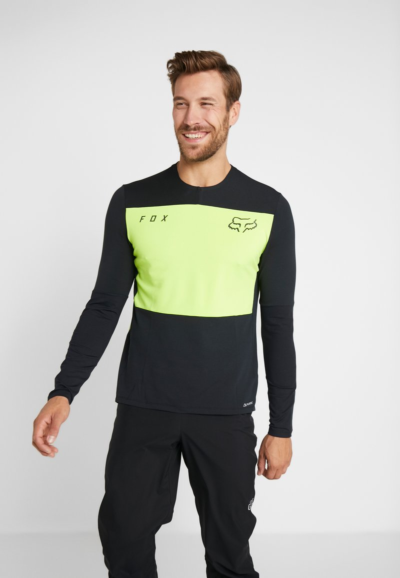Fox Racing - DEFEND DELTA LUNAR - Sports shirt - day glow yellow