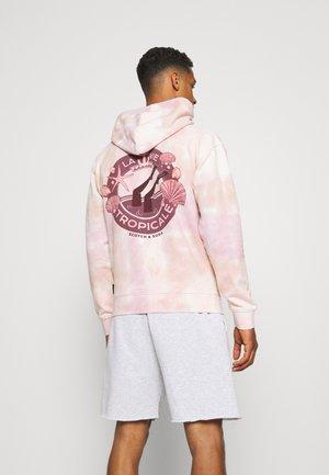 TIE DYED FELPA ARTWORK HOODIE - Collegepaita - beige/light pink