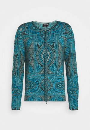 CARDIGAN GEOMETRIC PATTERN - Cardigan - pacific