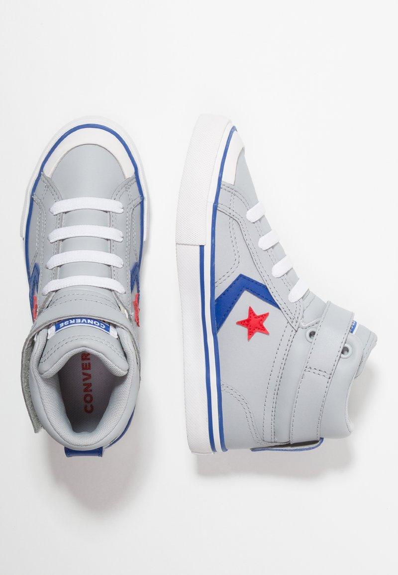 Converse - PRO BLAZE STRAP - Baskets montantes - wolf grey/blue/enamel red