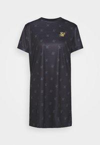 SIKSILK - MONO T-SHIRT DRESS - Jersey dress - black - 0