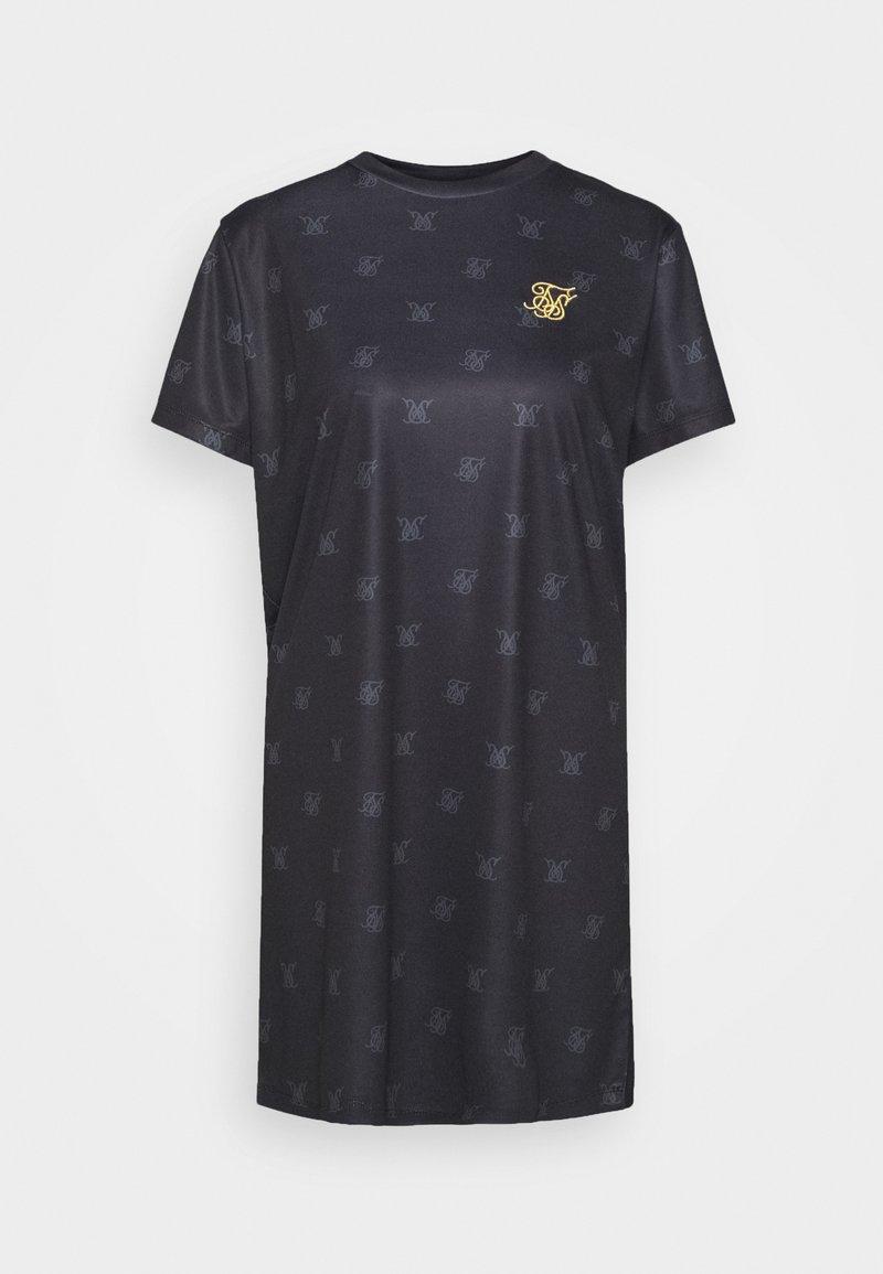 SIKSILK - MONO T-SHIRT DRESS - Jersey dress - black