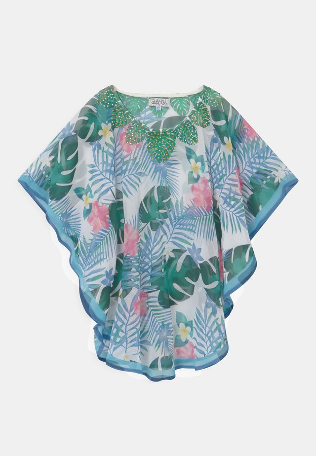 GIRLS PRINTED KAFTAN - T-Shirt print - white/blue