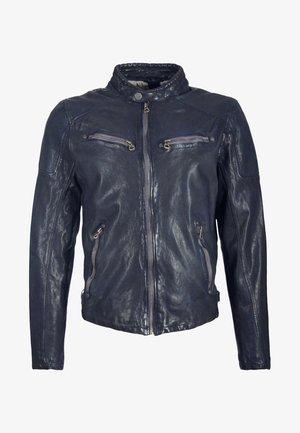 LAROV - Leather jacket - dark blue