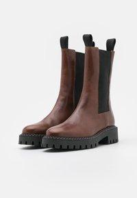 LÄST - ANGIE - Platform boots - brown - 2