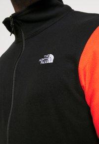 The North Face - GLACIER JACKET  - Veste polaire - flare/black - 4