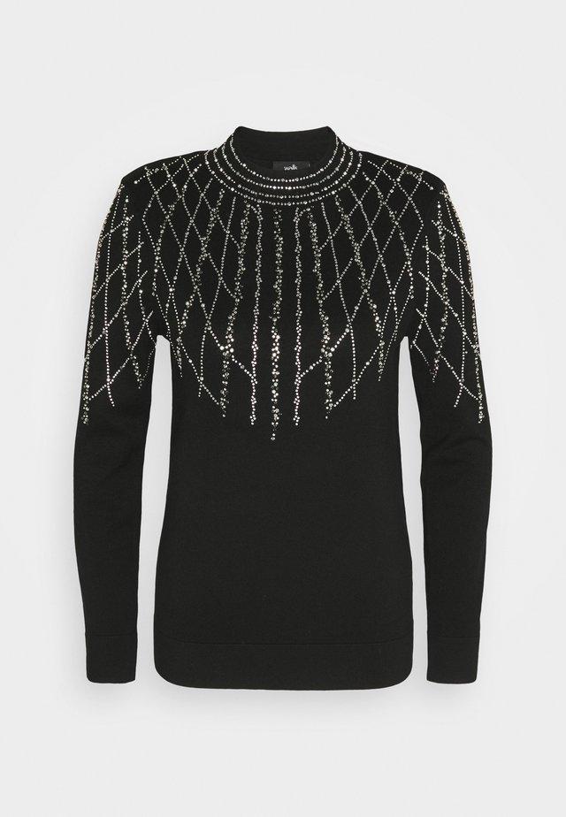 LINEAR SPARKLE JUMPER - Pullover - black