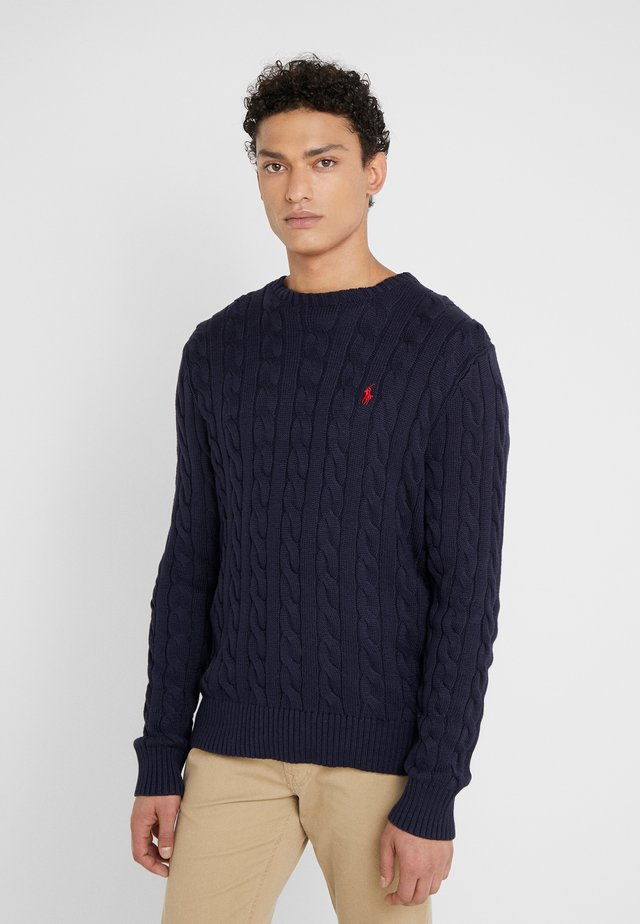 CABLE - Pullover - hunter navy