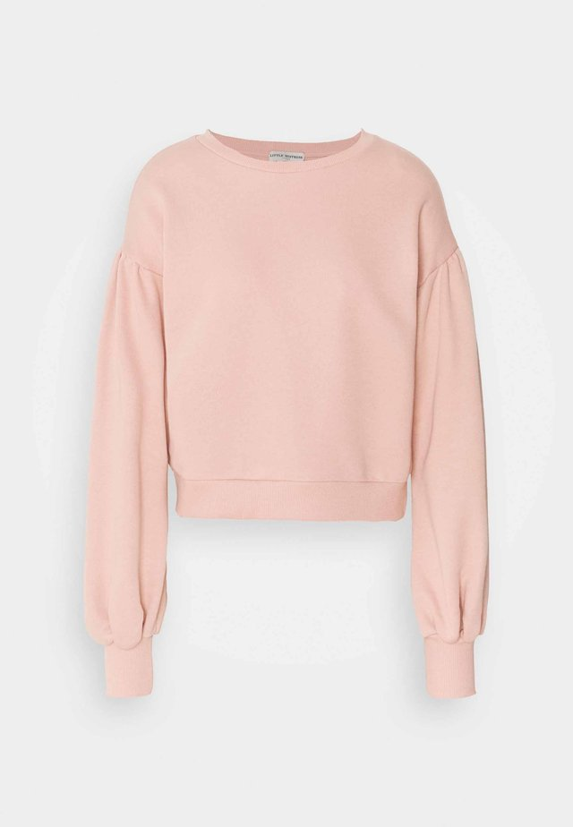 GATHERED SHOULDER BALLOON SLEEVE - Sweater - dusty rose
