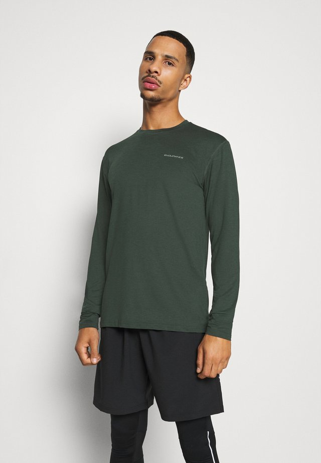 MELL MELANGE - Sports shirt - deep forest