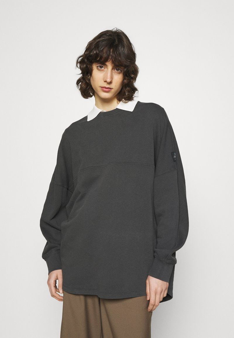 Ecoalf - BOREAL LONG WOMAN - Sweatshirt - asphalt