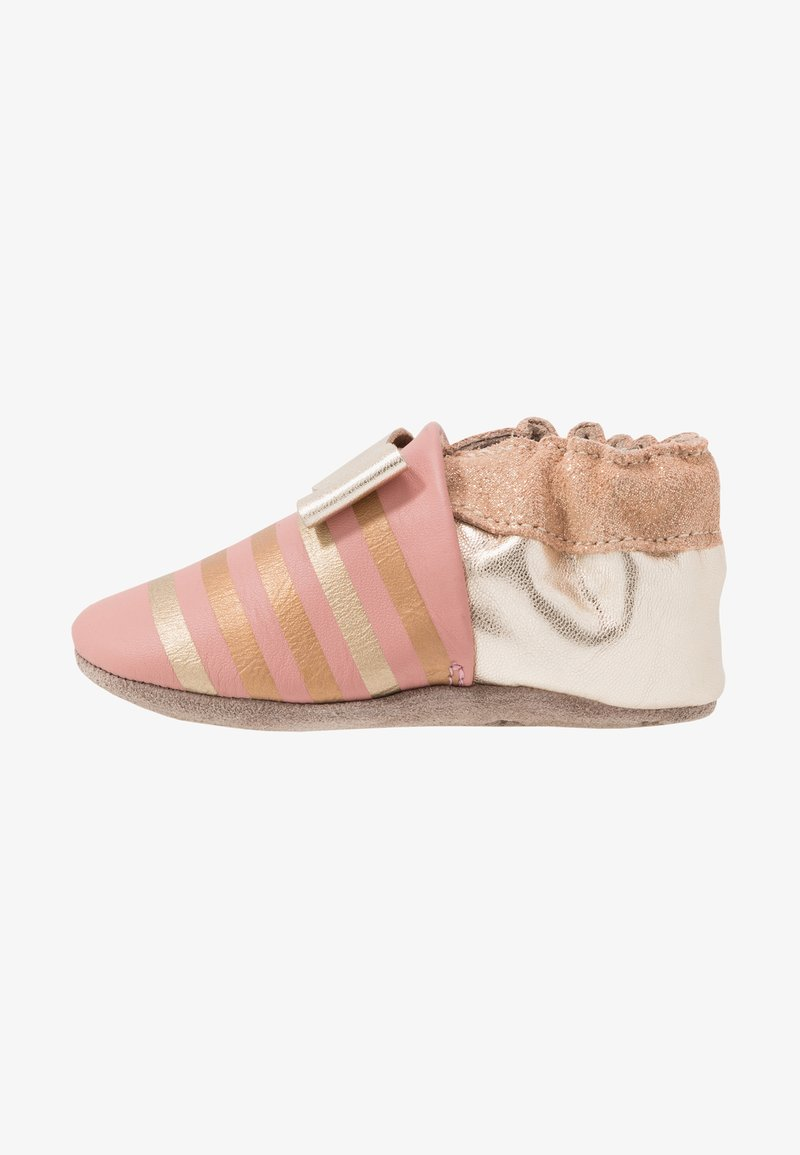 Robeez - SHINY BOW TIE - First shoes - rose/or
