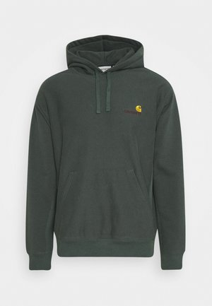 HOODED AMERICAN SCRIPT - Luvtröja - dark teal