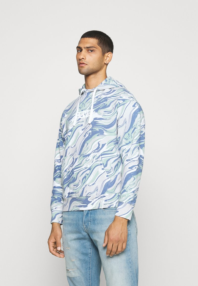 Levi's® - RELAXED FIT LOGO - Sweat à capuche - marble box tab white