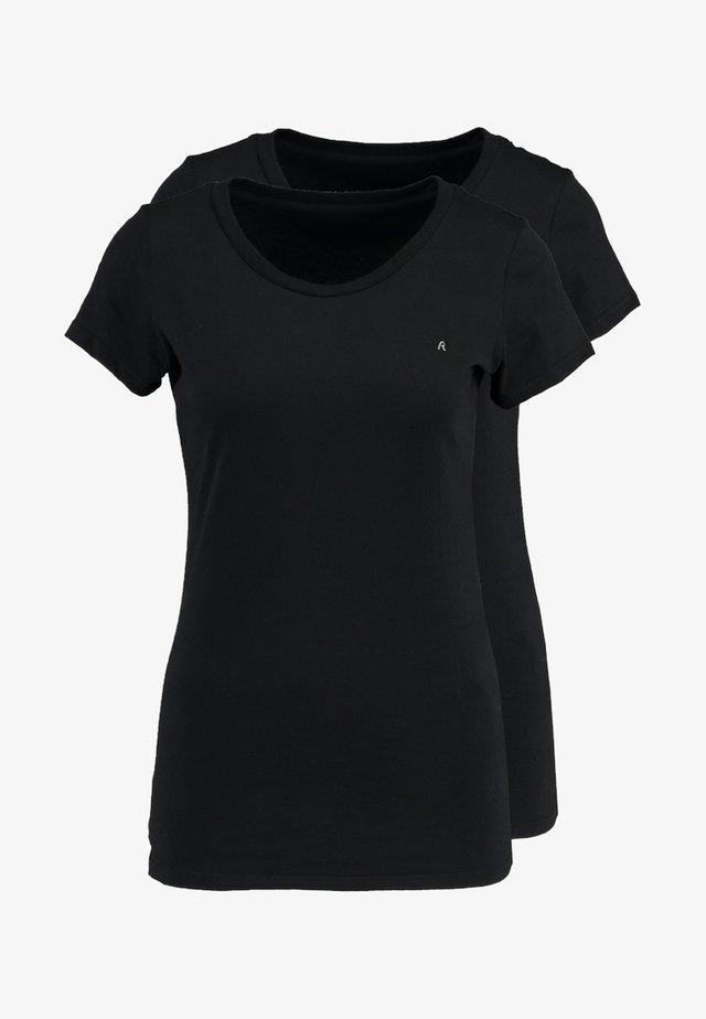 2 PACK - T-shirt basique - black-black