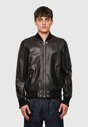 L-ABBOTT - Leather jacket - black