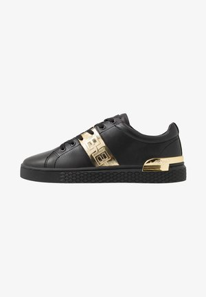 STRIPE METALLIC - Trainers - black/gold