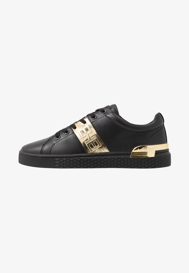 STRIPE METALLIC - Sneakers laag - black/gold