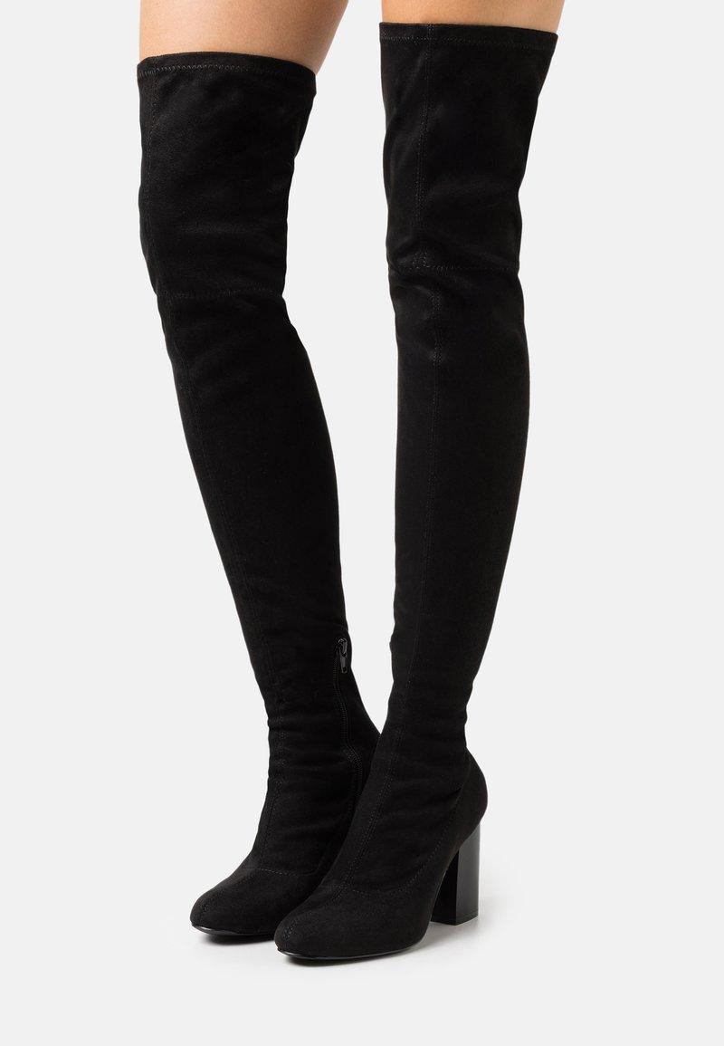 Even&Odd - Laarzen met hoge hak - black