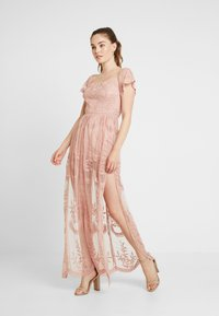 Honey Punch - OFF SHOULDER BARDOT DRESS - Maxi dress - blush - 1