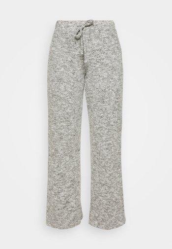WIDE LEG BRUSHED TROUSER - Bukse - grey