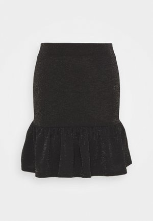 PEPLUM MINI SKIRT - A-line skirt - black