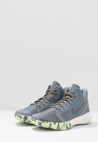 Nike Performance - PRECISION III - Basketball shoes - cool grey/dark grey/platinum tint/lab green - 2